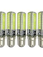 Недорогие -5 шт. 3 W LED лампы типа Корн 170-200 lm BA15D 72 Светодиодные бусины SMD 5730 Новый дизайн Декоративная Милый Тёплый белый Холодный белый 12-24 V