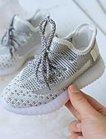 Недорогие -Девочки Удобная обувь Flyknit Спортивная обувь Маленькие дети (4-7 лет) Беговая обувь Белый / Черный / Оранжевый Осень