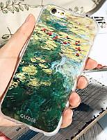 Недорогие -Кейс для Назначение Apple iPhone XS / iPhone X / iPhone 8 Pluss Защита от пыли / Ультратонкий / С узором Кейс на заднюю панель Пейзаж ТПУ