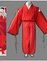 Недорогие -Вдохновлен Инуяша Косплей Аниме Косплэй костюмы Японский Косплей Костюмы Брюки / кимоно Пальто Назначение Муж. / Жен.