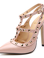 cheap -Women's Heels Stiletto Heel Pointed Toe Synthetics Sweet / Minimalism Fall / Spring & Summer Black / Almond / Party & Evening