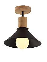 Недорогие -современный простой потолочный светильник скрытого монтажа светильники рассеянного света окрашенные отделки деревянный металлический подвесной светильник для крыльца коридора