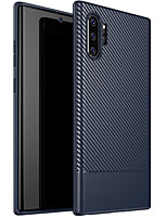 Недорогие -Кейс для Назначение SSamsung Galaxy Note 9 / Note 8 / Galaxy Note 10 Рельефный Кейс на заднюю панель Однотонный ТПУ