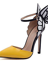 cheap -Women's Heels Stiletto Heel Pointed Toe Sequin Synthetics Sweet / British Fall / Spring & Summer Yellow / Light Purple / Wedding / Party & Evening