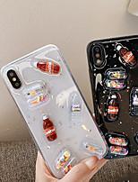 Недорогие -чехол для яблока iphone xs max / iphone 8 plus противоударный / пыленепроницаемый / прозрачная задняя крышка 3d мультфильм / блеск блестящий тпу для iphone 7/7 plus / 8/6/6 plus / xr / x / xs