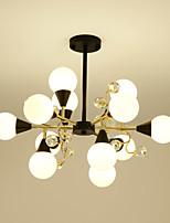 Недорогие -хрустальная люстра / старинное художественное освещение для гостиной, спальни, кафе-бар / 12 ламп, роспись по стеклу и металлу / светодиодная лампа g9 в комплекте