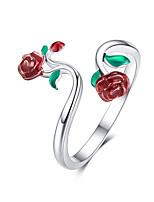 Недорогие -роза открытое кольцо леди стерлингового серебра 925 пробы регулируемое кольцо