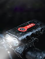 Недорогие -Светодиодная лампа Велосипедные фары Передняя фара для велосипеда LED Велоспорт Водонепроницаемый Вращающийся USB зарядка выход 18650 700 lm Перезаряжаемая батарея Велосипедный спорт / Быстросъемный