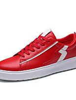 Недорогие -Муж. Комфортная обувь Полиуретан Осень На каждый день Кеды Нескользкий Контрастных цветов Черный / Белый / Красный