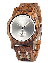 Недорогие -Для пары Нарядные часы Японский Японский кварц Стильные Дерево Черный 30 m Повседневные часы деревянный Аналоговый Мода Дерево - Черный Коричневый Оранжевый Два года Срок службы батареи