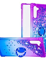 Недорогие -Кейс для Назначение SSamsung Galaxy Galaxy Note 10 / Galaxy Note 10 Plus Защита от удара / Движущаяся жидкость / Кольца-держатели Кейс на заднюю панель Сияние и блеск / Градиент цвета ТПУ