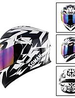 Недорогие -мода унисекс двойной объектив складной мотоциклетный шлем легкий внедорожный защитный шлем