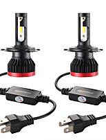Недорогие -Мини светодиодные лампы автомобильные фары h4 / hb2 / 9003 100 Вт 20000lm 6000 К автомобильные фары