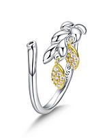 Недорогие -Новое поступление подлинная стерлингового серебра 925 пробы пшеницы открыть размер кольца для женщин свадебные обручальные украшения