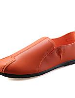 Недорогие -Муж. Обувь для вождения Полиуретан Весна лето / Наступила зима На каждый день Мокасины и Свитер Дышащий Черный / Оранжевый / Офис и карьера
