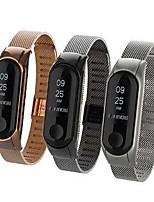Недорогие -Ремешок для часов для Mi Band 3 Xiaomi Классическая застежка Нержавеющая сталь Повязка на запястье