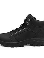 Недорогие -Муж. Комфортная обувь Микроволокно Зима / Наступила зима На каждый день / Английский Ботинки Для пешеходного туризма / Для прогулок Дышащий Ботинки Черный / Коричневый / Серый