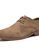 Недорогие -Муж. Армейские ботинки Синтетика Весна лето На каждый день Туфли на шнуровке Черный / Коричневый / Хаки