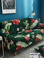 Недорогие -Чехол на диван из сафлора и зеленых листьев с принтом и полиэстер