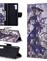 Недорогие -Кейс для Назначение SSamsung Galaxy Galaxy Note 10 / Galaxy Note 10 Plus Кошелек / Бумажник для карт / Защита от удара Чехол Животное Кожа PU