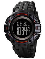 Недорогие -SKMEI Муж. Спортивные часы Цифровой силиконовый Черный / Жад 50 m Защита от влаги С тремя часовыми поясами Хронометр Цифровой На открытом воздухе Мода - Черный Зеленый Черный / Белый