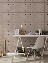 Недорогие -обои Нетканые Облицовка стен - Клей требуется Геометрический принт