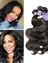 Недорогие -3 Связки Бразильские волосы Естественные кудри Необработанные натуральные волосы 100% Remy Hair Weave Bundles Человека ткет Волосы Удлинитель Пучок волос 8-28 дюймовый Нейтральный