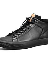 Недорогие -Муж. Кожаные ботинки Наппа Leather Весна / Осень На каждый день Кеды Дышащий Черный / Черно-белый / Белый