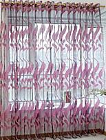 Недорогие -Узор Прозрачный 1 панель Прозрачный Девочки   Curtains