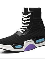 Недорогие -Муж. Комфортная обувь Tissage Volant Лето На каждый день Кеды Контрастных цветов Черно-белый / Черный / синий