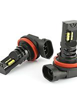 Недорогие -Мощные автомобильные светодиодные лампы h8 h11 cree 12 светодиодные противотуманные фары