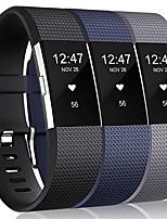 Недорогие -3шт большой ремешок для часов для fitbit заряда 2 fitbit спортивный ремешок силиконовый ремешок
