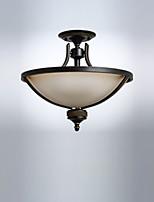 Недорогие -потолочные светильники скрытого монтажа антикварные стеклянные светильники даунлайт окрашенные отделки потолочные светильники для гостиной столовой