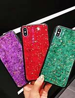 Недорогие -чехол для apple iphone xs max / iphone 8 plus пылезащитный / imd / блестящий блеск задняя крышка мраморный тпу для iphone 7/7 plus / 8/6/6 plus / xr / x / xs
