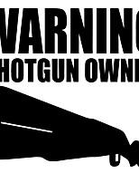 Недорогие -предупреждающие письма владельца ружья смешные светоотражающие наклейки
