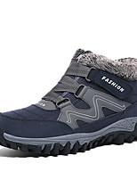 Недорогие -Муж. Комфортная обувь Кожа Зима Спортивные / На каждый день Ботинки Для прогулок Сохраняет тепло Черный / Синий
