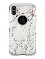 Недорогие -Кейс для Назначение Apple iPhone XS / iPhone XR / iPhone XS Max Защита от удара Кейс на заднюю панель Мрамор ПК