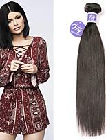 Недорогие -3 Связки Бразильские волосы Прямой Не подвергавшиеся окрашиванию Необработанные натуральные волосы Человека ткет Волосы Удлинитель Пучок волос 8-28 дюймовый Нейтральный Ткет человеческих волос