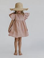 Недорогие -Дети Девочки Горошек До колена Платье Розовый