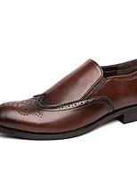 Недорогие -Муж. Комфортная обувь Полиуретан Лето Мокасины и Свитер Черный / Желтый / Коричневый