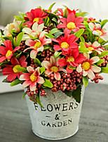 Недорогие -Искусственные Цветы 1 Филиал Классический европейский Пастораль Стиль Хризантема Букеты на стол