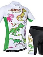 Недорогие -WEIMOSTAR Животное Мультипликация Мальчики Девочки С короткими рукавами Велокофты и велошорты - Детские Зеленый Велоспорт Наборы одежды Дышащий Влагоотводящие Быстровысыхающий Виды спорта / Эластан