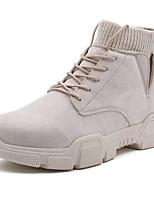 Недорогие -Муж. Армейские ботинки Замша Осень / Зима На каждый день Ботинки Для прогулок Нескользкий Черный / Коричневый / Бежевый