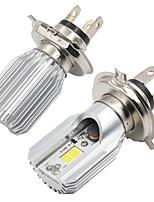 Недорогие -1pcs H4 / BA20D Мотоцикл Лампы COB Светодиодная лампа Противотуманные фары / Налобный фонарь Назначение Мотоциклы Все года
