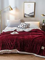 Недорогие -Одеяла / Диван Бросай / Многофункциональные одеяла, Сплошной цвет Фланель Флис / Полиэстер удобный Очень мягкий одеяла