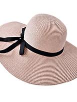 Недорогие -Жен. Симпатичные Стиль Шляпа от солнца Полиэстер,Однотонный Розовый