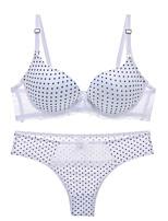 cheap -Women's Push-up Lace Bras Underwire Bra 3/4 Cup Bra & Panty Set Lace Printing Lace White Fuchsia Blue