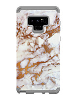 Недорогие -Кейс для Назначение SSamsung Galaxy Note 9 Защита от удара Кейс на заднюю панель Мрамор ПК