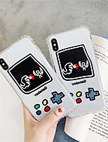 Недорогие -чехол для яблока iphone xs / iphone xr / iphone xs max ударопрочный / прозрачный / с рисунком на задней обложке мультфильм тпу для iphone x xs 7 8 7plus 8plus 6 6 plus 6s 6splus