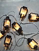 Недорогие -BRELONG® 2м Гирлянды 10 светодиоды SMD 0603 Тёплый белый Творчество / Для вечеринок / Декоративная 3 V 1шт / IP44